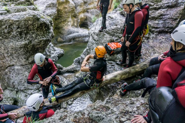 Canyoning Junggesellenabschied Bayern